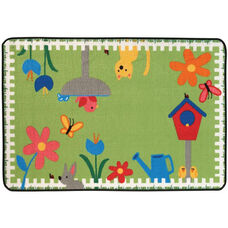 Kids Value Garden Time Rectangular Nylon Rug - 48