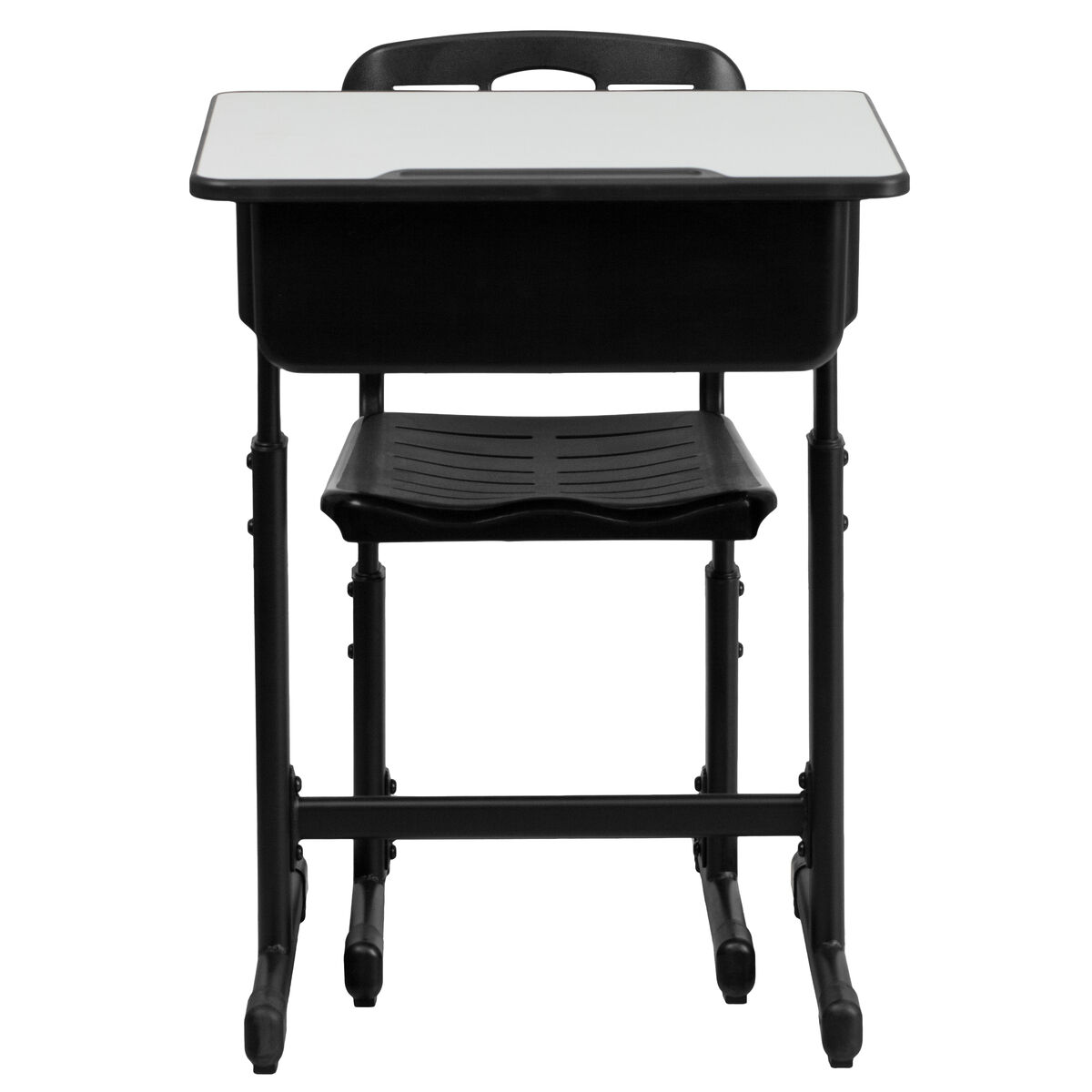 Open front desk and chair yu ycx 046 09010 gg for Furniture 4 schools