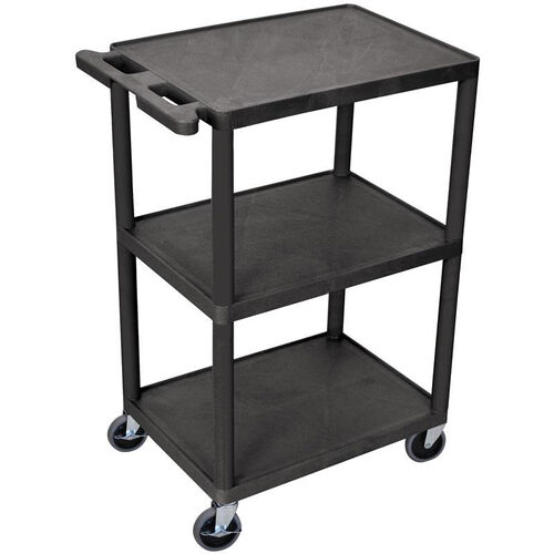 Our 3 Shelf Structural Foam Plastic Utility Cart - Black - 24