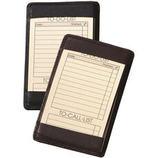 Traditional Note Jotter - Top Grain Nappa Leather - Black