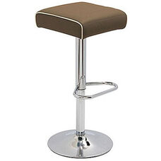 Octave Adjustable Bar Stool with a Square Upholstered Seat - Grade C