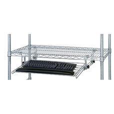 Chrome Wire Adjustable Keyboard Shelf