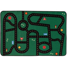 Kids Value Go-Go Driving Rectangular Nylon Rug - 48