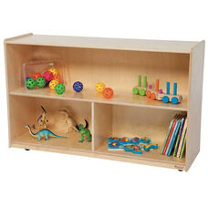 Natural Versatile Single Plywood UV Finished Storage Unit with Rolling Casters - Assembled - 48