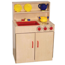 Pretend Play Healthy Kids Plywood 3-n-1 Kitchen Center - 24.5