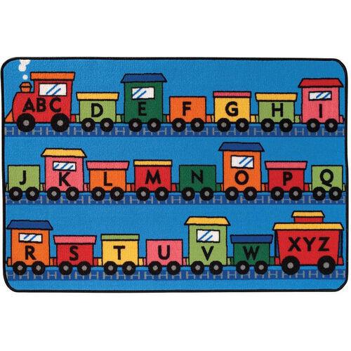 Kids Value Alphabet Train Rectangular Nylon Rug - 48