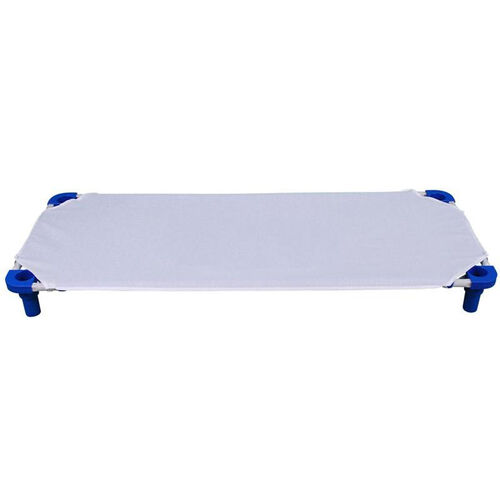 White Cotton and Polyester Fitted Cot Sheet - 52