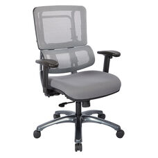 Pro-Line II Vertical Mesh Back Office Chair with Titanium Base - Grey and Steel