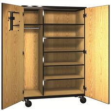 Denali 1000 Series Mobile Teacher Storage w/ Doors & 5 Adjustable Shelves