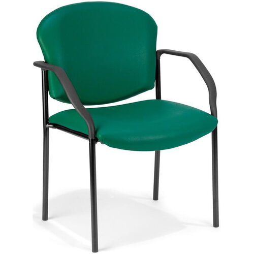 Our Manor Anti-Microbial and Anti-Bacteria Vinyl Guest and Reception Chair with Arms - Teal Vinyl is on sale now.