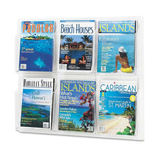 Safco® Reveal Clear Literature Displays - Six Compartments - 30w x 2d x 24-1/2h - Clear