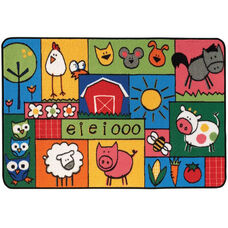 Kids Value Old MacDonald Farm Rectangular Nylon Rug - 48