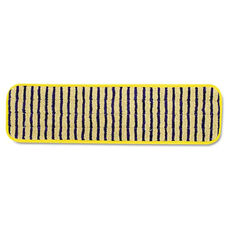 Rubbermaid® Commercial Microfiber Scrubber Pad - Vertical Polyprolene Stripes - 18