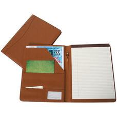 Writing Padfolio Document Organizer - Sedona New Bonded Leather - Tan