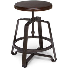 Endure Small Stool with Dark Vein Legs - Walnut Seat