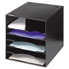 Safco® Steel Desktop Sorter - Seven Compartments - Steel - 12 x 12 x 11 - Black