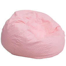 Oversized Light Pink Dot Bean Bag Chair