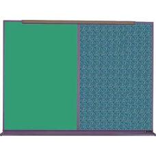 800 Series Aluminum Frame Combination Chalkboard and Tackboard - Designer Fabric - 48
