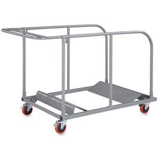 Lorell Round Table Trolley Cart 32.8''W x 52''D x 40.2''H - Charcoal