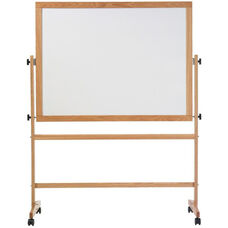 Double-Sided Remarkaboard® Markerboard with Wood Trim - 48