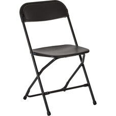 Work Smart Plastic Folding Chair - Set of 10 - Black