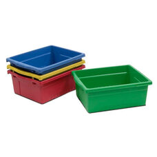 Four Pack of Large Rough and Tough Open Tubs - Red, Yellow, Green, and Blue