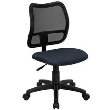 Mid-Back Navy Blue Mesh Swivel Task Chair