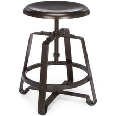 Endure Small Metal Stool - Dark Vein Seat and Legs