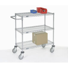 Chrome Adjustable Wire Shelf Cart - 18