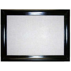 2300 Series Tackboard with Concave Ebony Wood Frame and Designer Fabric - 36