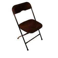 Champ Series Versatile Resin Wedding Folding Chair with Foot Caps - Black