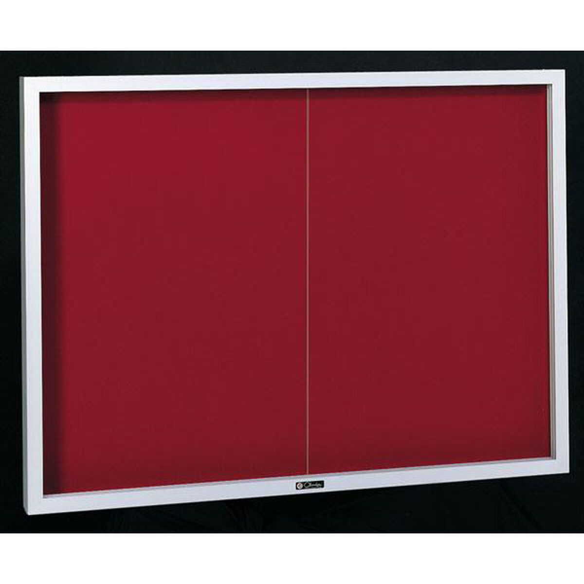 Contemporary Bulletin Board Sliding 2 Door Cabinet 48h X 72w X 25d
