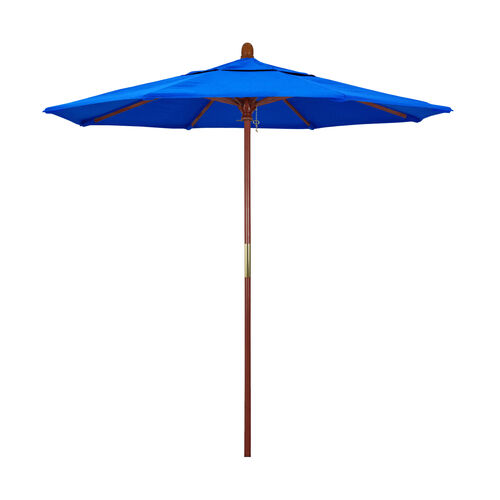 7.5 Ft. Square Wood Market Umbrella with Push Lift and Single Wind Vent