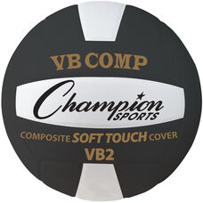 VB Pro Comp Official Size and Weight Volleyball in Black and White