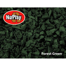 NuPlay Recycled Rubber Loose Fill Mulch - Forest Green - 1.5 Cubic Feet