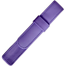 Single Pen Case - Genuine Leather - Purple