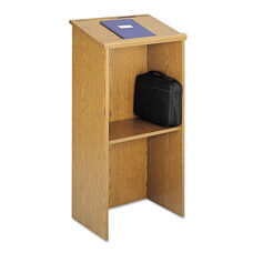 Safco® Stand-Up Lectern - 23w x 15-3/4d x 46h - Medium Oak