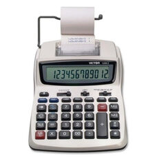 Victor Technology 12 Digit Calculator - 2 Color Printing - 6