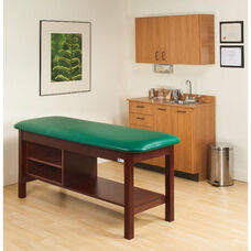 Flat Top H-Brace Treatment Table w/Tier Shelf - 30