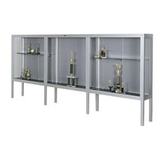 Premiere Series Freestanding 3 Door Display Case with Aluminum Legs - 192