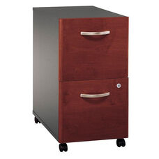 Series C Two Drawer Mobile Pedestal File - Hansen Cherry and Graphite Gray