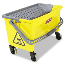 Rubbermaid® Commercial HYGEN™ HYGEN Press Wring Bucket for Microfiber Flat Mops - Yellow