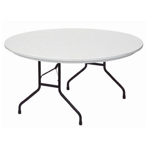 Standard Fixed Height Blow-Molded Plastic Top Round Folding Table - 60