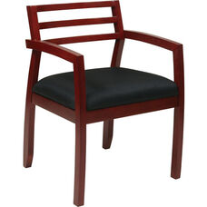 OSP Furniture Napa Guest Chair with Wood Back - Cherry