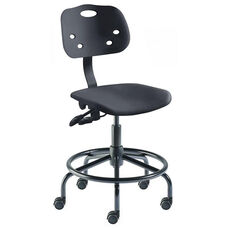 Quick Ship ArmorSeat Series Chair with UV Inhibitor and Tubular Steel Base - Medium Seat Height
