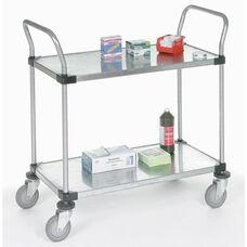 Galvanized 2 Shelf Solid Shelf Cart - 24
