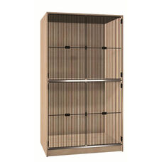 2 Compartment Storage w/Grill Doors