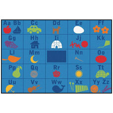 Kids Value Alphabet Seating Rectangular Nylon Rug - 72