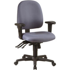 Work Smart Multi Function Ergonomic Seat Chair with Ratchet Back and Multi-Function Control