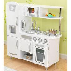 Kids Wooden Make-Believe Simple Kitchen Play Set - White